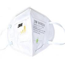 3M 9003V KN90/P1 9000系列折叠式带阀颗粒物防护口罩