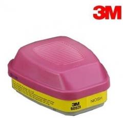 3M   6000系列溴甲烷 / 放射性碘滤盒及 P100 颗粒物滤棉 60928