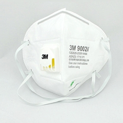 3M 9002V KN90/P1 9000系列折叠式带阀颗粒物防护口罩